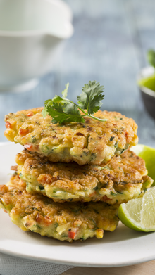 Baby Marrow & Corn Fritters
